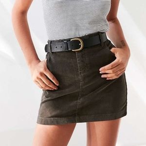 Urban Outfitters BDG Olive Corduroy Skirt